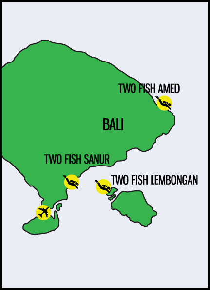 sites for diving bali