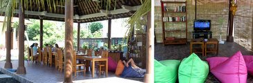 Restaurant-and-TV-area in lembongan