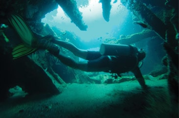 Padi advanced course amed at the Tulamben wreck
