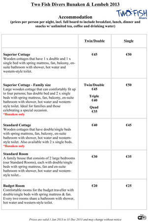 Lembeh Prices