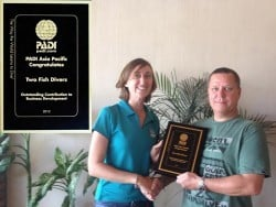 Two Fish Divers wins award from PADI
