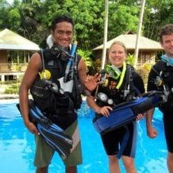 open water course in Bunaken 11FEB13