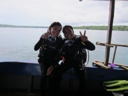 open water course bunaken 22APR13