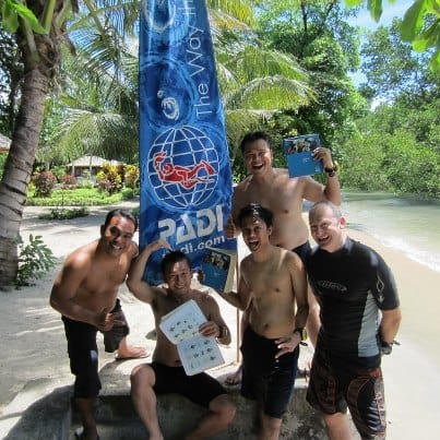 open water course in bunaken