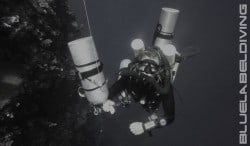 Markko on the 100m dive in Bunaken