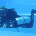 Sidemount in pool