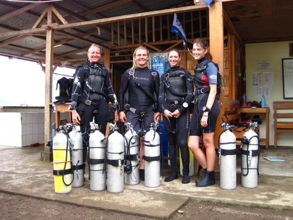 sidemount tryouts in lembeh