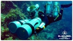 sidemount diving in bunaken
