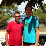 Olivier and Darran having completed their PADI Open Water Course