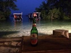 evening beer in bunaken