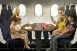 family booths on flights