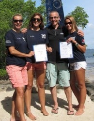 Two brand new PADI instructors