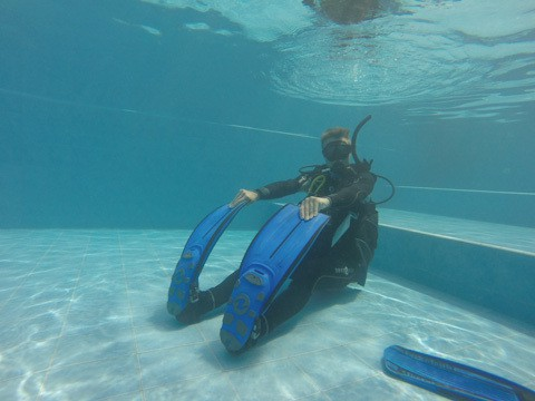 PADI Divemaster training for Andreas