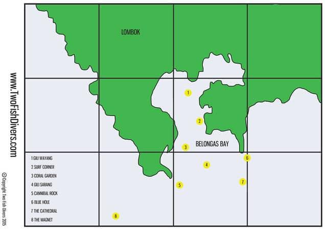 Belongas Bay Day Trip dive sites