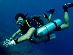 Tec diver in Indonesia
