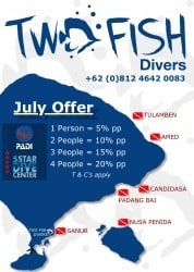 Diving Mainland Bali Special Offers For July