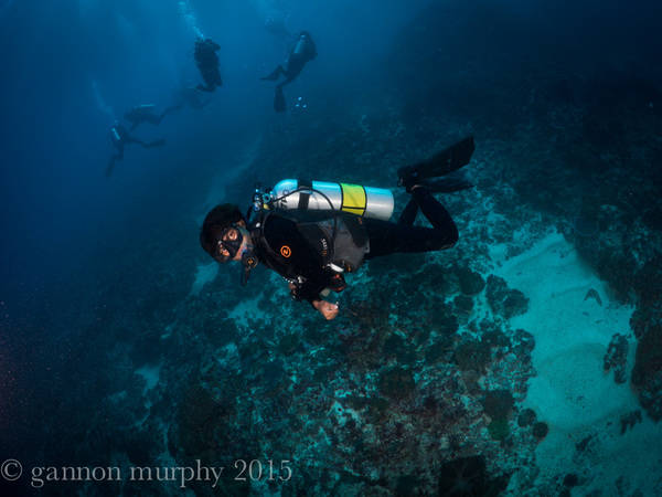 Keeping Warm in Lembongan when scuba diving
