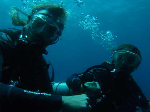 Scott&Robyn doing tec diving
