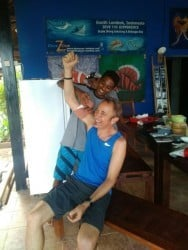 Guillermo our Divemaster trainnee says goodbye in South Lombok