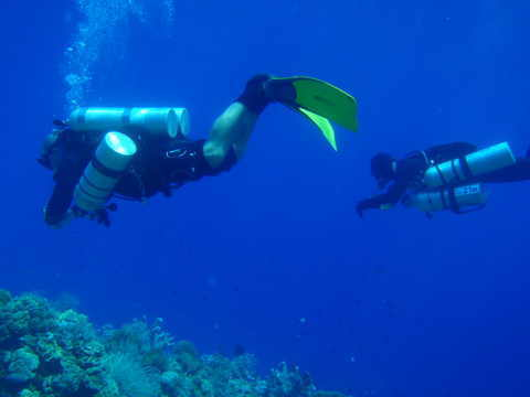 Tec diving in Bunaken