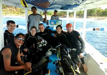 open water course south lombok