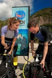 What is involved in the PADI open water course