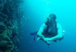 Sidemount wall diving