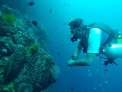 Sidemount diving in Bunaken Indonesia