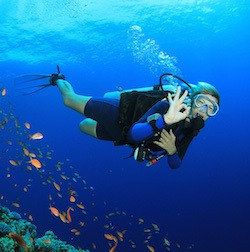 great fun diving in Indonesia for Divemaster interns