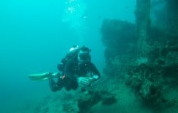 Technical diving training in Amed