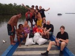 dive against debris on Muka Kampung off Bunaken