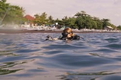 SDI Solo Diving course student Amed Bali