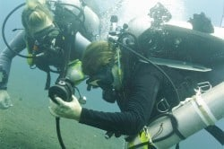 Solo diving course dealing with emergencies