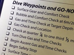 Solo Diving course dive planning