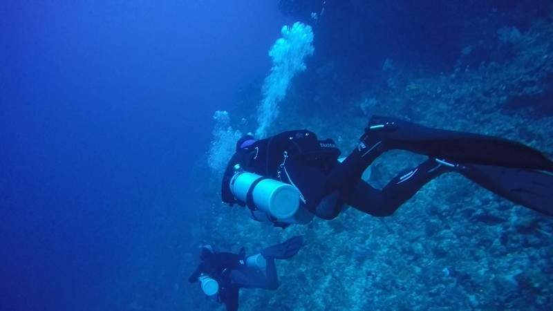 Technical diving in Bunaken