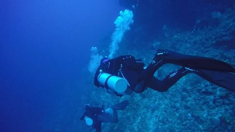 Technical diving in Bunaken
