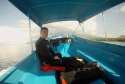Boat diving with Two Fish Tech in Amed Bali