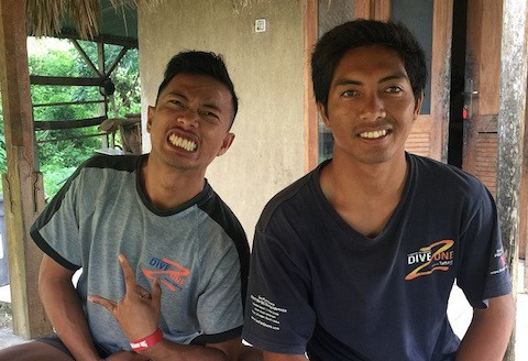 ipan and nahir start their PADI divemaster training