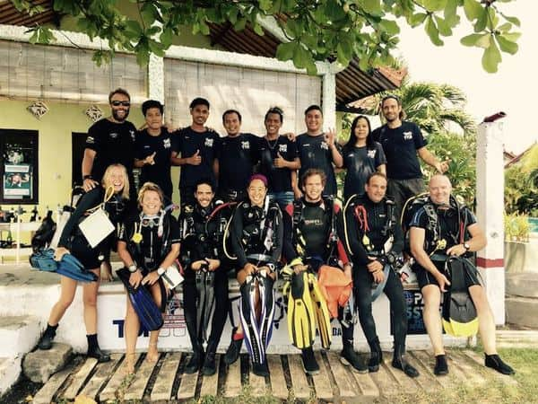 idc and dive staff at two fish amed