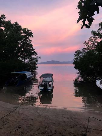 sunset view diving bunaken