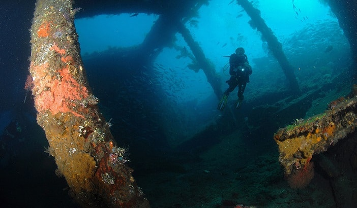PADI Wreck Diving Specialty, Bali