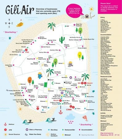 gili air map