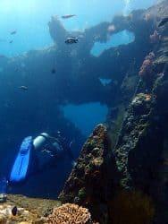 Dive through USAT Liberty wreck