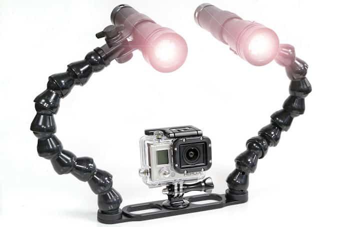 GoPro underwater lights
