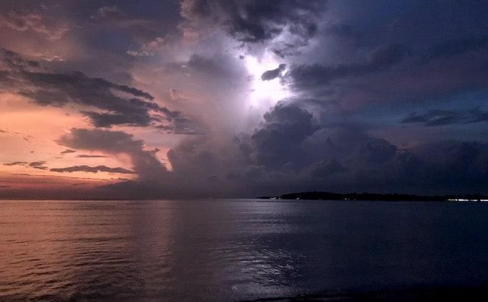Gili Air storm