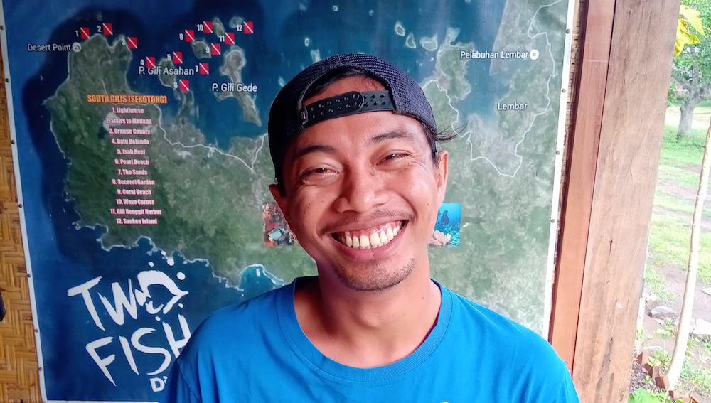Diving South Gili's with Dive Guide Ipan