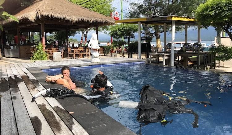 Divemaster training in Gili Air
